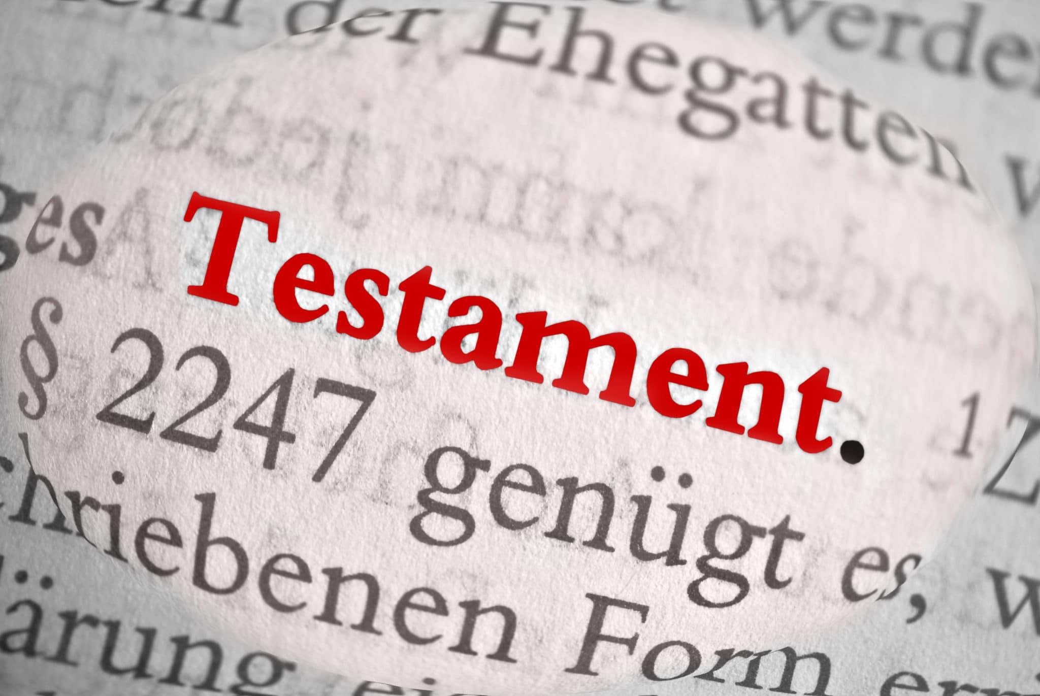 Fachanwalt für Erbrecht Testament Notar